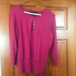 Button front silk blend Cardigan